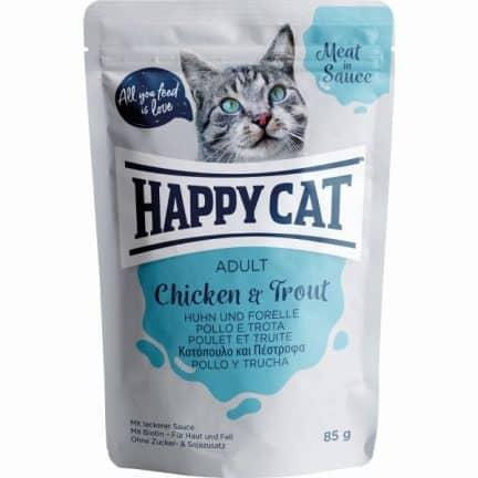 HAPPY CAT MEAT SAUCE FRANGO&TRUTA