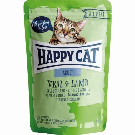 HAPPY CAT ALL MEAT VITELA&BORREGO