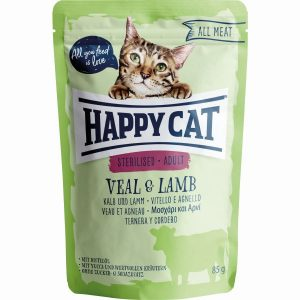 HAPPY CAT ALL MEAT ESTERILIZADO VITELA&BORREGO