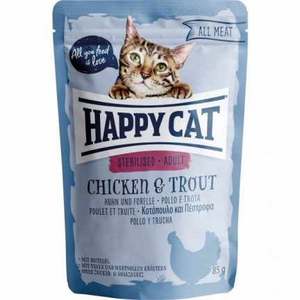 HAPPY CAT ALL MEAT ESTERILIZADO FRANGO&TRUTA